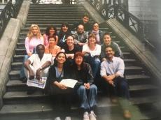 London, 2004. BBC izobraževanje pred začetkom 6-mesečnega dela v World Service, s kolegi z vsega sveta.