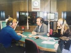 Začetki sodelovanja s Sašem Hribarjem, ko sva mu družbo delala z Juretom Mastnakom, Radio Slovenija, 2002